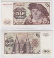 T145123 Banknote 50 DM Deutsche Mark Ro. 277a Schein 1.Juni 1977 KN KF 6109942 X - 50 Deutsche Mark