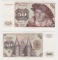 T145444 Banknote 50 DM Deutsche Mark Ro. 277a Schein 1.Juni 1977 KN KF 3709978 U - 50 Deutsche Mark