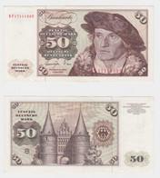 T145707 Banknote 50 DM Deutsche Mark Ro. 277a Schein 1.Juni 1977 KN KF 1711152 U - 50 Deutsche Mark