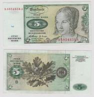 T146269 Banknote 5 DM Deutsche Mark Ro. 262e Schein 2.Jan. 1960 KN B 5954858 A - 5 Deutsche Mark