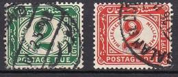 EG836 – EGYPTE – EGYPT – POSTAGE DUE – 1889 – MI # 20/21 USED - 1915-1921 Protectorado Británico