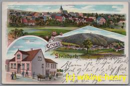 Steinbach Am Donnersberg - Litho Gruss Aus Steinbach Mit Gasthaus Zum Donnersberg - Autres