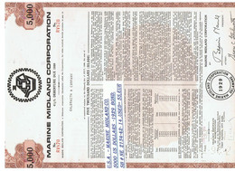 USA- 5000 DOLLARS    MARINE    BOND  ,  BROWN - Estados Unidos