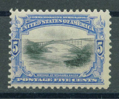 US 1901 Exposition 5c,Bridge At Niagara Falls Stamp,Scott# 297,OG MH,VF $75 - Unused Stamps