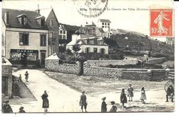 TRÉBOUL - Chemin Des Villas (1908) Archive Pérhérin (à Sa Soeur Mlle Pérhérin Cuisinière Au Château D'AMBOISE ) - Tréboul