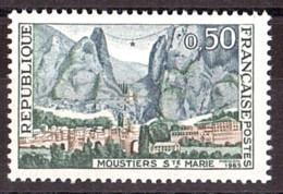 Neige Abondante Sur Le Paysage Sur N° 1436 Neuf ** - Moustiers-Sainte-Marie - Varieteiten: 1960-69 Postfris