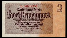 P174b Ro167c DEU-223c  2 Rentenmark 1937 UNC NEUF! - 2 Rentenmark