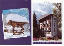 """CHAMONIX - MONTBLANC   ( 74 )  HÔTEL  """" LES  EAUX  VIVES  """"  CPM  ( 21 / 2 / 182  ) - Chamonix-Mont-Blanc"""