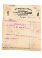 M.j. Drummonds +co  GAS AND WATER  PIPE  BILL - Etats-Unis