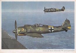 AVIONS DE CHASSE ALLEMANDS FW 190 EN PATROUILLE - Ausrüstung