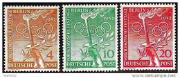 Deutschland Allemagne Germany BERLIN 1952:  Olympiade  Helsinki Michel-No. 88-90 ** Postfrisch MNH (Michel € 30.00 Euro) - Sommer 1952: Helsinki