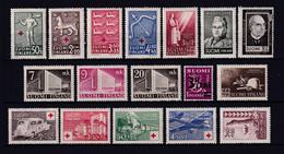 FINLANDE - ANNEES COMPLETES 1943 + 1944 - YVERT N° 261/277 * MLH - COTE = 17.5 EUR. - Ganze Jahrgänge