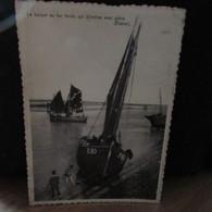 Cpsm   BELGIQUE    SIND IDESBALD   La Barque Au Foc   Le Port - Altri