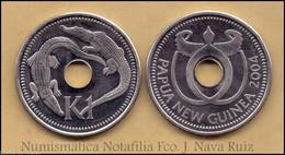 Papua New Guinea 1 Kina Crocodiles 2004 KM 6 SC UNC - Other - Oceania