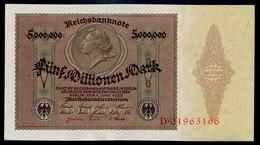 P90 Ro88 DEU-100. 5 Million  Mark 01.06.1923 UNC NEUF! - 5 Millionen Mark