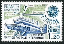 France Frankreich Francia 1979 Poste Aérienne Intérieure Air Bleu Caudron Simoun Internal Airmail (YT 2046 Mi 2148) - Aerei