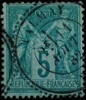 -Sage N°75 (Type II 24 )  Ob  ( CAD ) . TALMAY 1882 ( 20 ) Belle Cote. - 1876-1898 Sage (Type II)