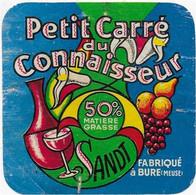 ETIQUETTE     DE FROMAGE   8 X 8  1962 PETIT CARRE DES CONNAISSEURS BURE MEUSE - Cheese
