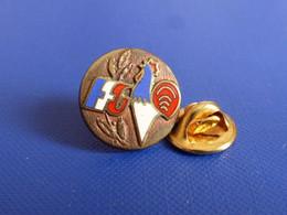 Pin's Rond FFG Bronze - Fédération Française De Gym Gymnastique - Coq Tricolore (PD9) - Golf
