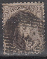 N° 10 OBLITERATION A BARRES - 1849 Epaulettes