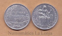 French Polynesia 2 Francs 1995 KM 10 With IEOM SC UNC - Other - Oceania