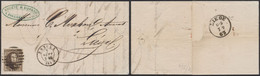 Médaillon Dentelé - N°14 Sur LAC Obl P207 çàd Esneux (1863, Manuscrit Poulseur, Carrières) > Liège. TB - 1863-1864 Medaillen (13/16)