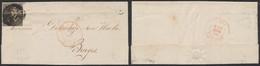 """épaulette - N°1 Touché Sur LAC Obl P115 çàd Thielt + Boite Rurale """"G"""" (Ruysselède) > Bruges    (DD) - 1849 Epaulettes"""