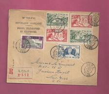Lettre Recommandée De 1938 Pour Les EUAN. YT N° 128, 166 X 2, 169 X 2 Et 170 - Exposition Internationale De Paris - Storia Postale