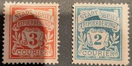 Germany Stadtpost/Privatpost Spandau 1897 2 & 3 Pfg  Unused  Michel 3/4 - Sello Particular
