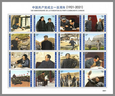 CHAD 2020 MNH Mao Zedong 100 Years Communist Party Kommunistische Partei M/S III - OFFICIAL ISSUE - DHQ2107 - Mao Tse-Tung