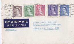 Canada Luchtpostbrief Met 5 Zegels  4-3-54 (646) - Cartas