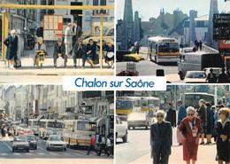 Chalon Sur Saône Bus Autocar Voitures Peugeot 504 Renault R5 - Chalon Sur Saone