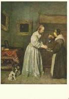 Gerhard Terborch - Die Dame, Die Sich Die Hände Wäscht - Schilderijen