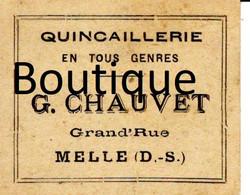 Bon Quincaillerie G Chauvet Melle Droguerie Machandise Grande Rue - Perfumería & Droguería
