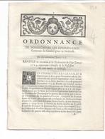 """ORDONNANCE De Nos Seigneurs Les Commissaires ..noblesse: """"..bénéfice De La Possession De 100 Années De Noblesse - Decretos & Leyes"""