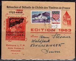 FRANCE FRANCE 1963 Type Coq Préoblitéré Sur Enveloppe Commerciale Des EDITIONS SUARNET EDITION LETTRE LETTERA COVER - 1921-1960: Période Moderne