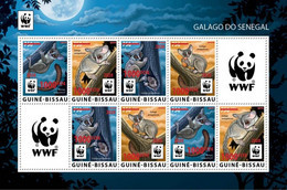 GUINEA BISSAU 2020 - WWF Galago Red Overprint, M/S 2 Sets. Official Issue [GB200514f1] - Sin Clasificación