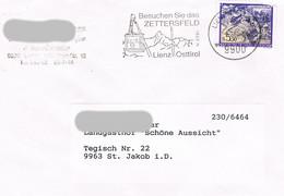 Österreich Sonderstempel - Lienz Zettersfeld - Seilbahn, Kabine, Landschaft - 1991-00 Cartas