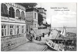 Sassnitz (insel Rugen) Strandhotel Und Promenade 1909 Non Circulée - Sassnitz