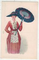 Illustrateurs Signés // Femme Avec Une Ombrelle - Other Illustrators