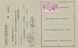 Carte  Abonnement Fédération Des Sociétés Philatéliques Françaises Avec Vignette 1960 - Non Classés