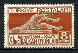 TURQUIE 1940 N° 945 * Neuf MH  Trace Charnière TTB C 3.25 € Sports Jeux Balkaniques Ankara Course Haies Games - Ungebraucht