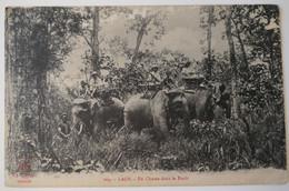 C. P. A. : LAOS : En Chasse Dans La Forêt à Dos D'éléphants, En 1920 - Laos