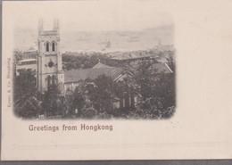 CP - GREETINGS FROM HONGKONG ( Circulé En 1900) - China (Hongkong)