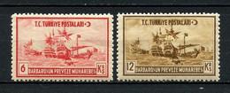 TURQUIE 1941 N° 953 Et 955 * Neuf MH  Trace Charnière TTB C 2,20 € Mort Amiral Barbaros Hayreddin Bateaux Sailboats - Ungebraucht