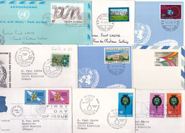 22751# NATIONS UNIES LOT 18 LETTRES Ou CARTES POSTALES NEUVES OU CIRCULEES UNITED NEW YORK GENEVE NANCY MEURTHE - Collections, Lots & Séries