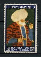 TURQUIE 1941 N° 956 ** Neuf MNH Superbe C 5.25 € Mort Amiral Barbaros Hayreddin - Ungebraucht