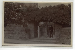 ANGLETERRE BURNSALL Carte Photo Villageois  Quartier Eglise The Lych Gate Linton Church   D04 2021 - Altri