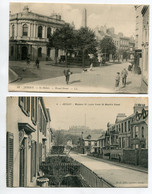 JERSEY ST HELIER 2 Cartes Maisons St Louis From St Mark Road Et Broad Street Animation 1910 D04 2021 - Jersey