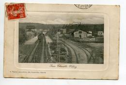 92 CHAVILLE VELIZY Gare Des Voyageurs Voies Aiguillages 1912 écrite Timb     D04 2021 - Chaville